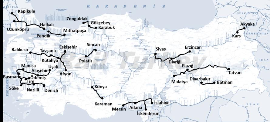Bölgesel Tren Hatları -Ülkemizin Tren Rotaları